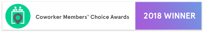 """tuesday coworking wins """"2018 Coworker Members' Choice Award"""" 3"""