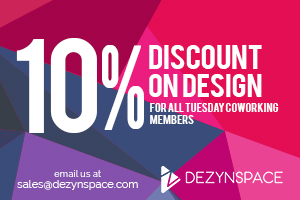 5% discount on coworking, other discounts and new installation! 3