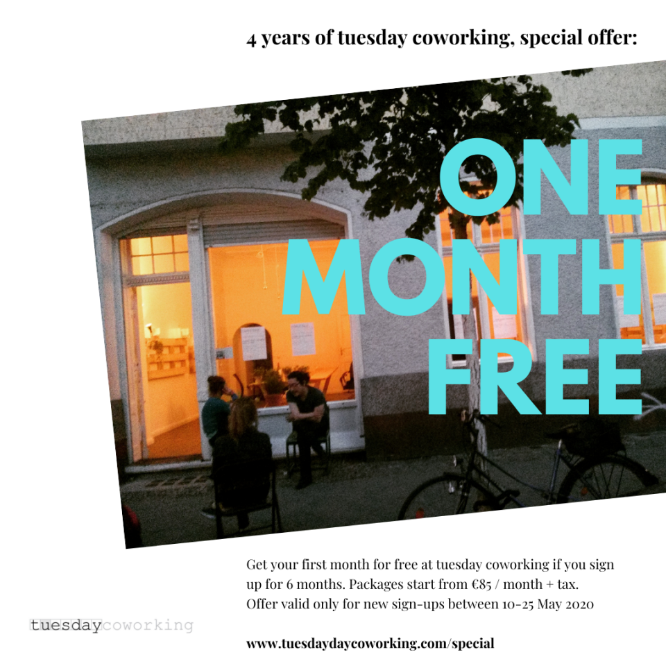 coworking one month free