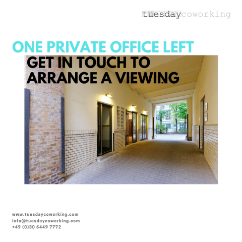 One 3-Person Private Office Available to Rent Now 1